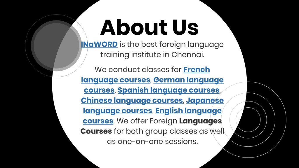 PPT - Foreign language courses in chennai pdf PowerPoint