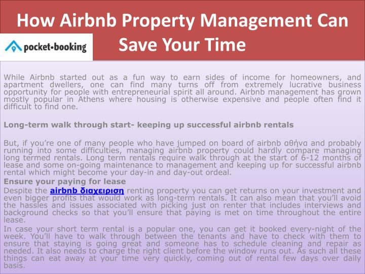 how airbnb property management can save your time n.