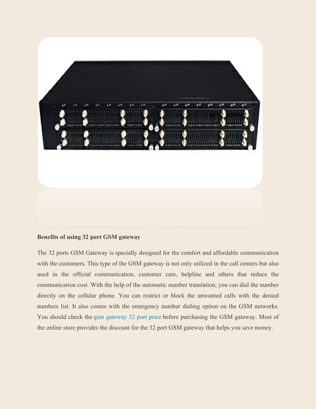 PPT - Why Should You Use GSM Gateway 32 Port In Call Center