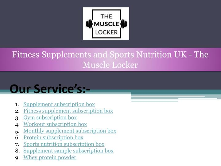 fitness supplements and sports nutrition n.