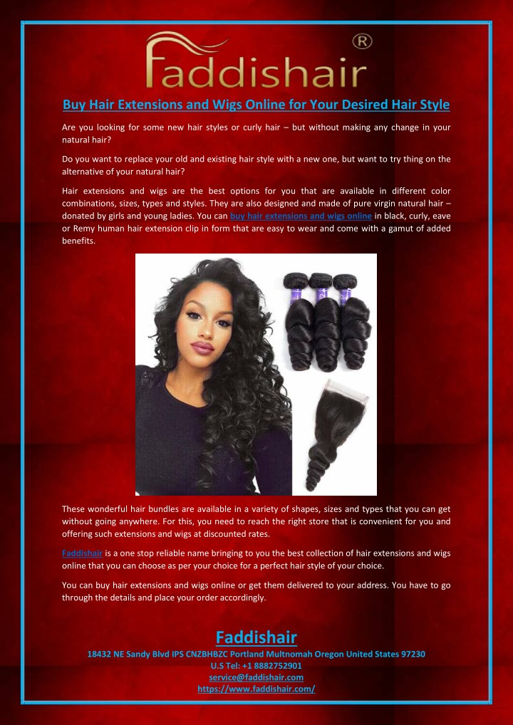 Ppt Buy Hair Extensions And Wigs Online For Your Desired Hair