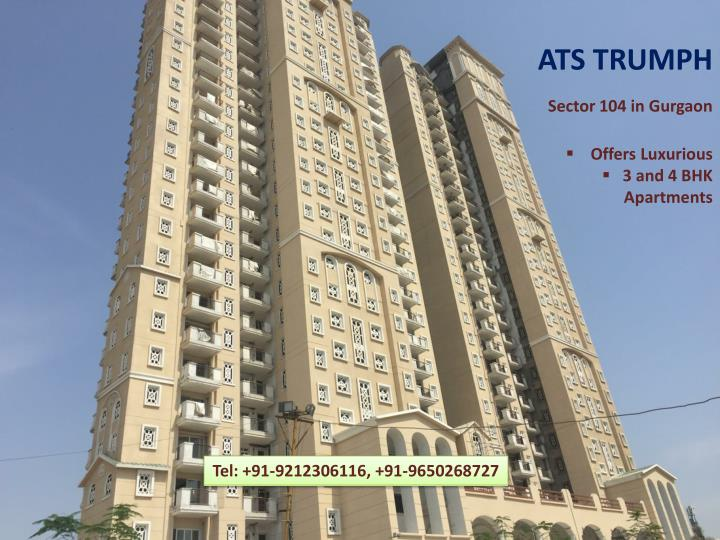 ats trumph sector 104 in gurgaon offers n.