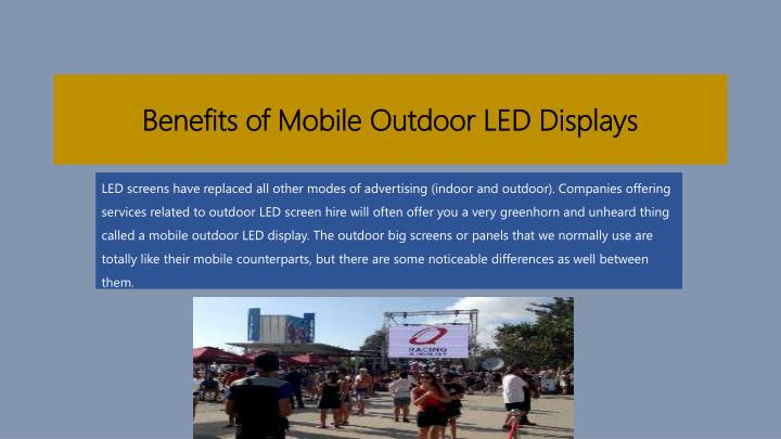 benefits of mobile outdoor led displays n.