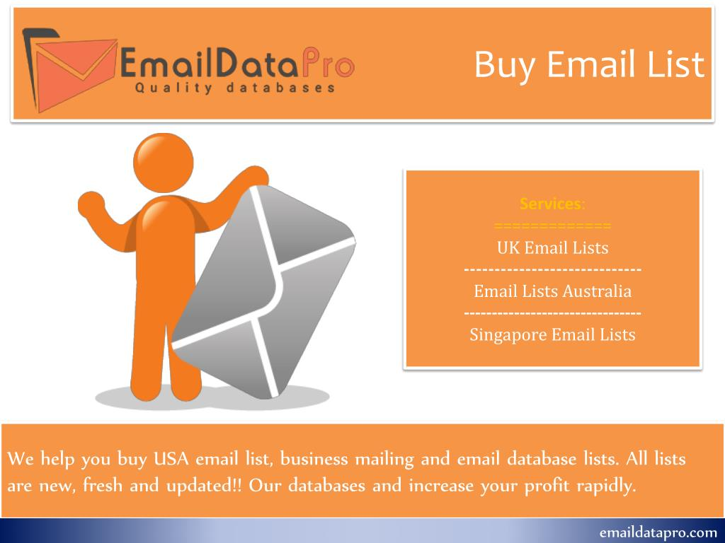 PPT - Email Data Pro PowerPoint Presentation - ID:7916640
