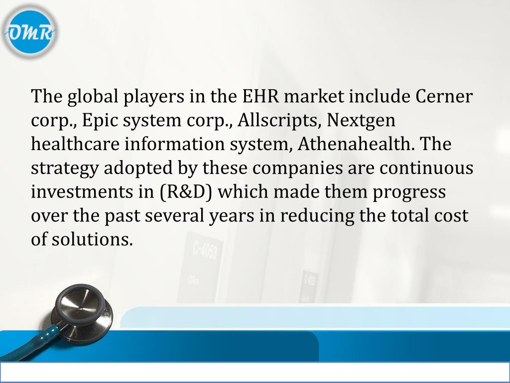 PPT - Electronic Health Records (EHR) Market PowerPoint