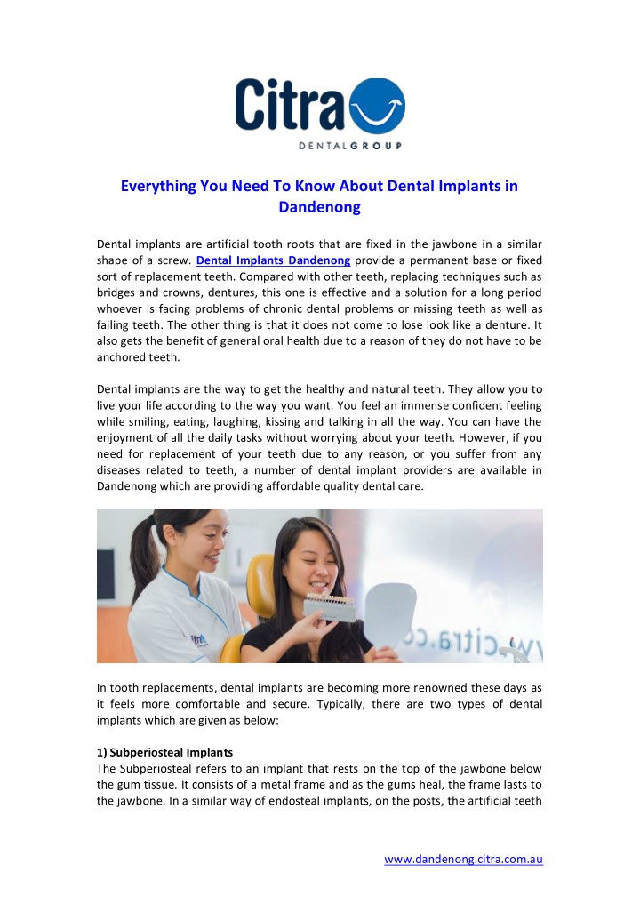 everything you need to know about dental implants n.