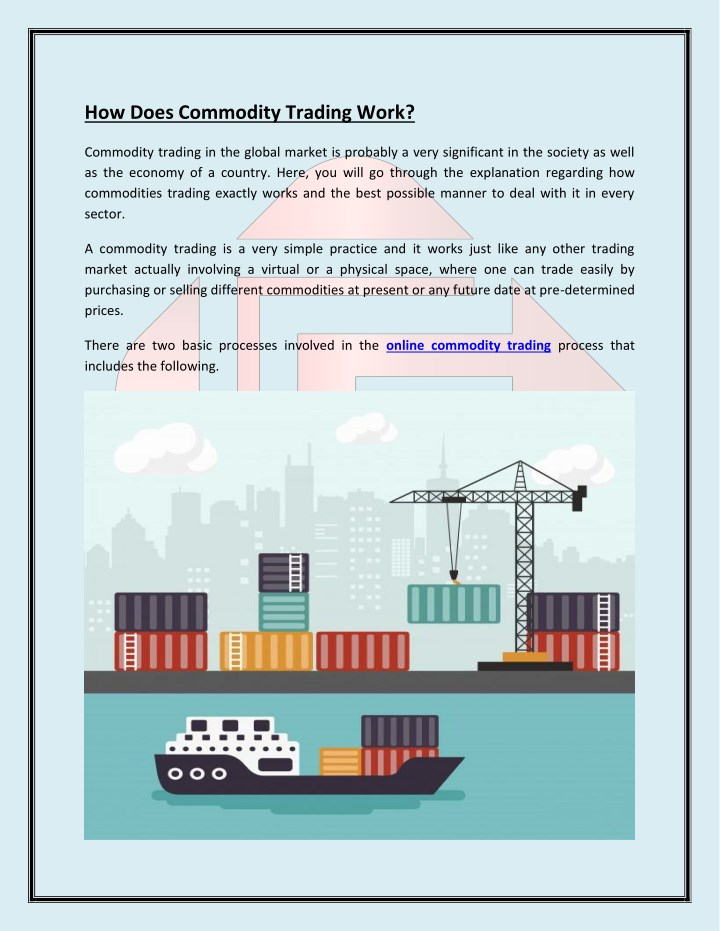 Ppt How Does Online Commodities Trading Market Work
