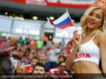 a russia fan before the opening match reuters