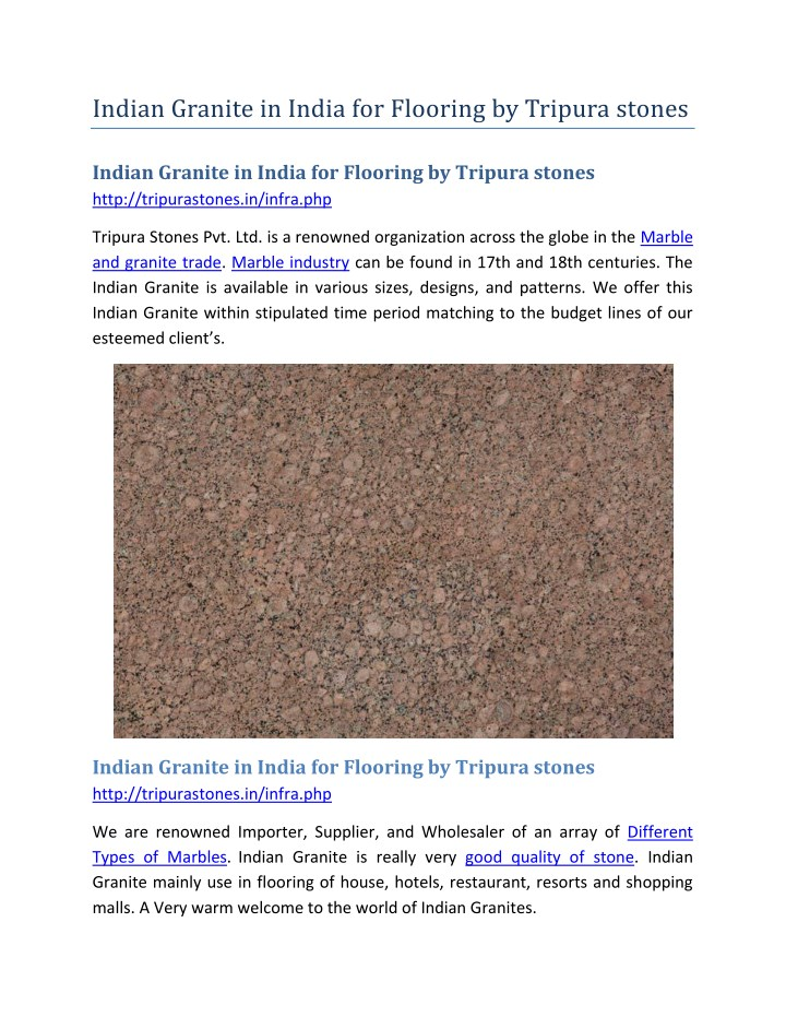 PPT - Indian Granite in India for Flooring by Tripura stones