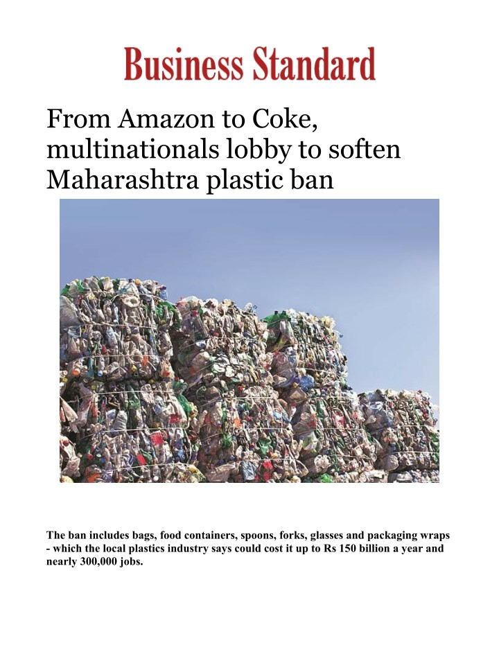from amazon to coke multinationals lobby n.
