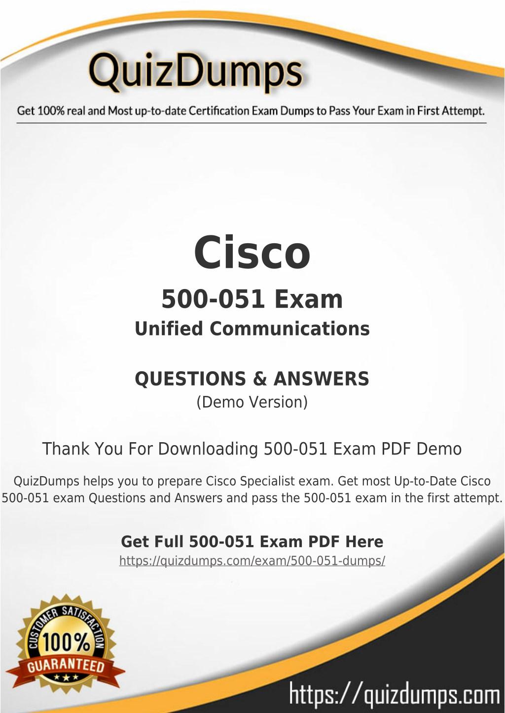 PPT - 500-051 Exam Dumps - Prepare 500-051 Dumps PDF [2018