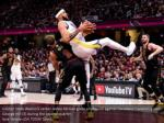 golden state warriors center javale mcgee grabs