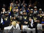 the golden state warriors celebrate after