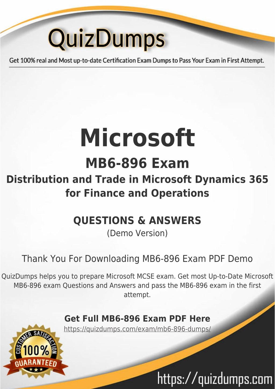 Ppt Mb6 896 Exam Dumps Download Mb6 896 Dumps Pdf 2018