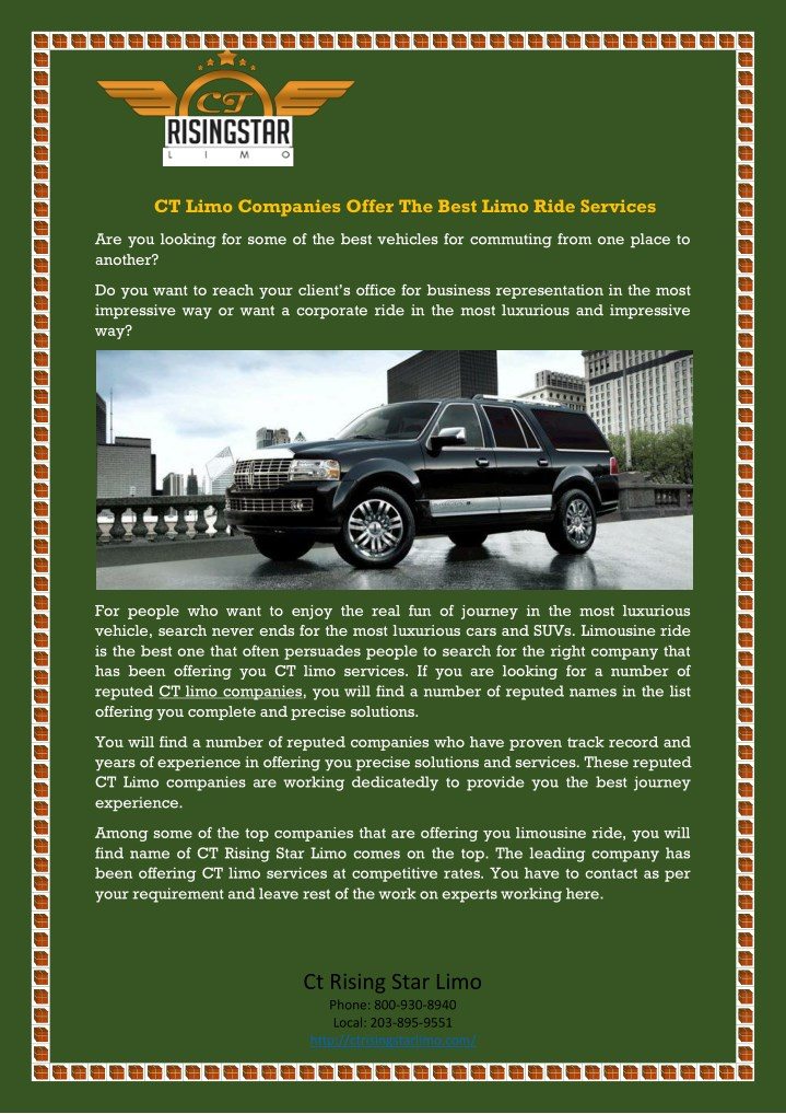 ct limo companies offer the best limo ride n.