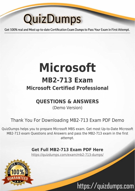 Ppt Mb2 713 Exam Dumps Prepare Mb2 713 Dumps Pdf 2018