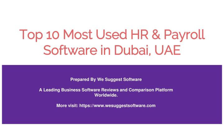 PPT - top 10 best hr and payroll software mostly used by