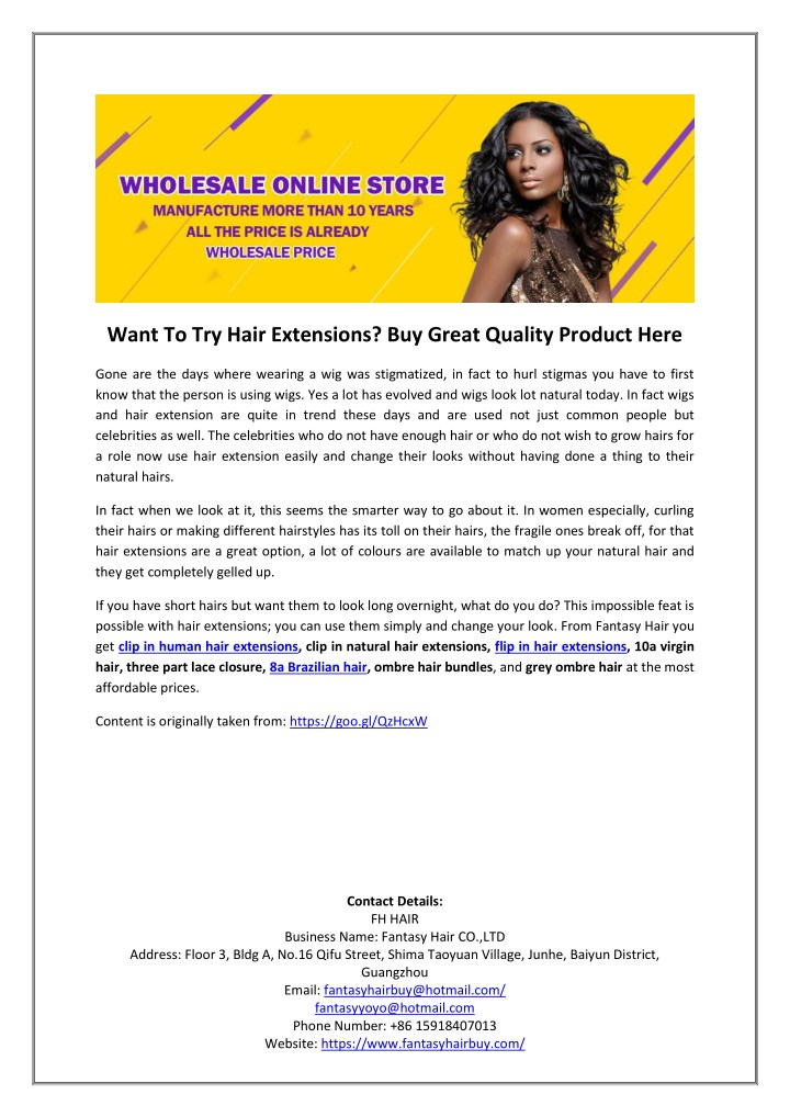 want to try hair extensions buy great quality n.