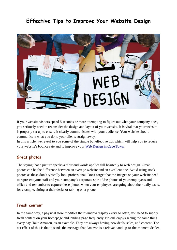effective tips to improve your website design n.
