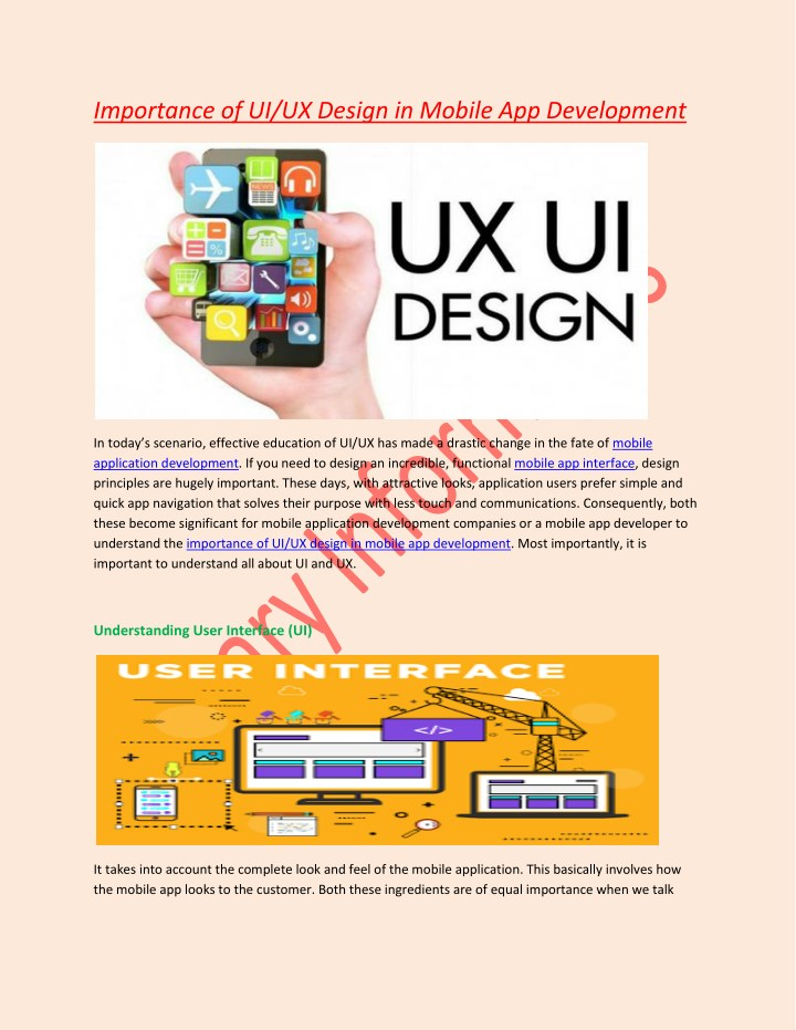 importance of ui ux design in mobile n.