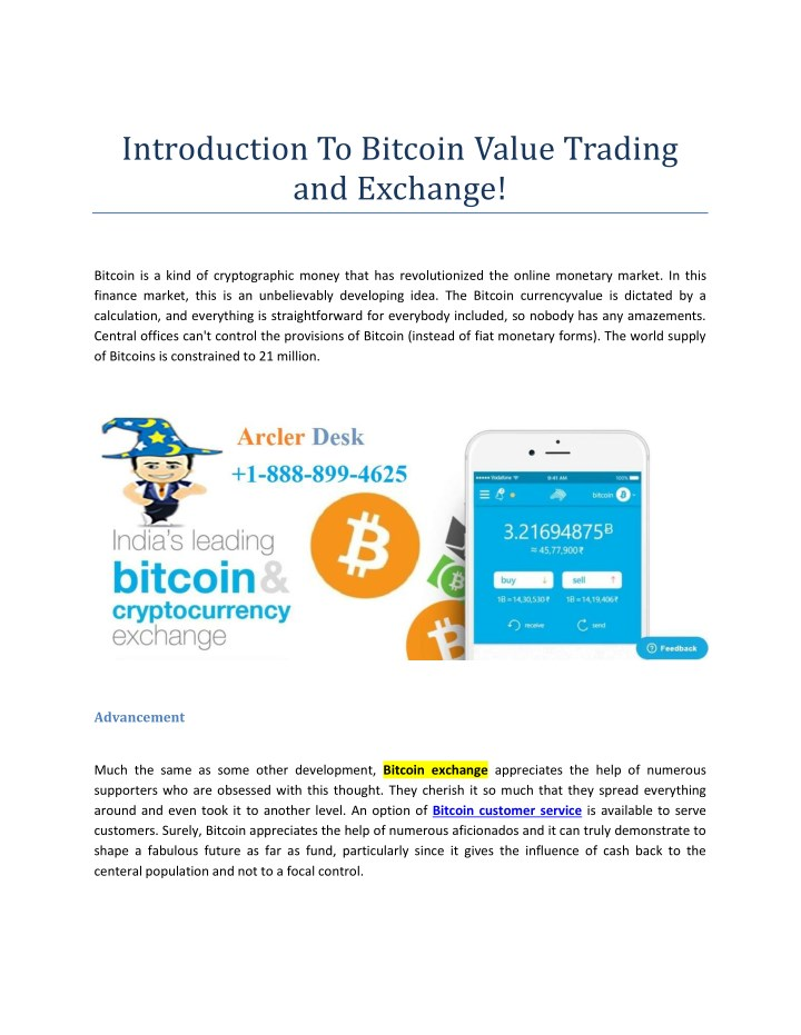 introduction to bitcoin value trading and exchange n.
