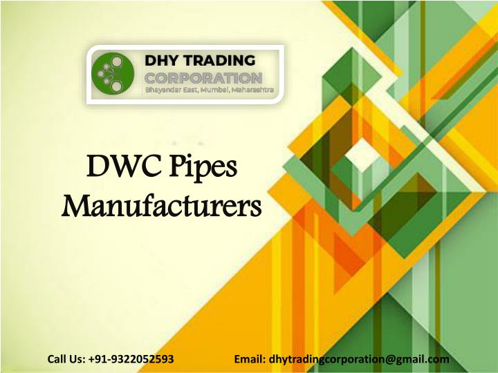 dwc pipes manufacturers n.