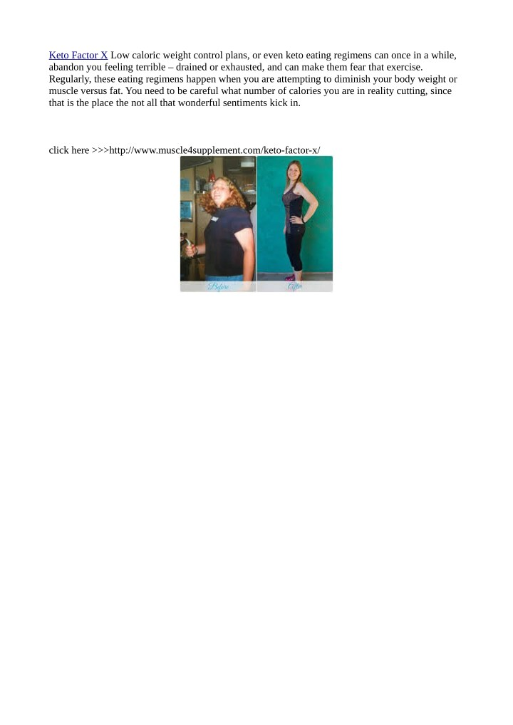 keto factor x low caloric weight control plans n.