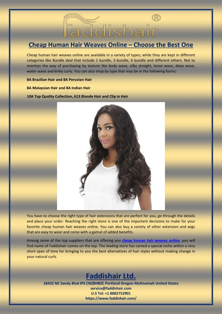 Ppt Cheap Human Hair Weaves Online Choose The Best One