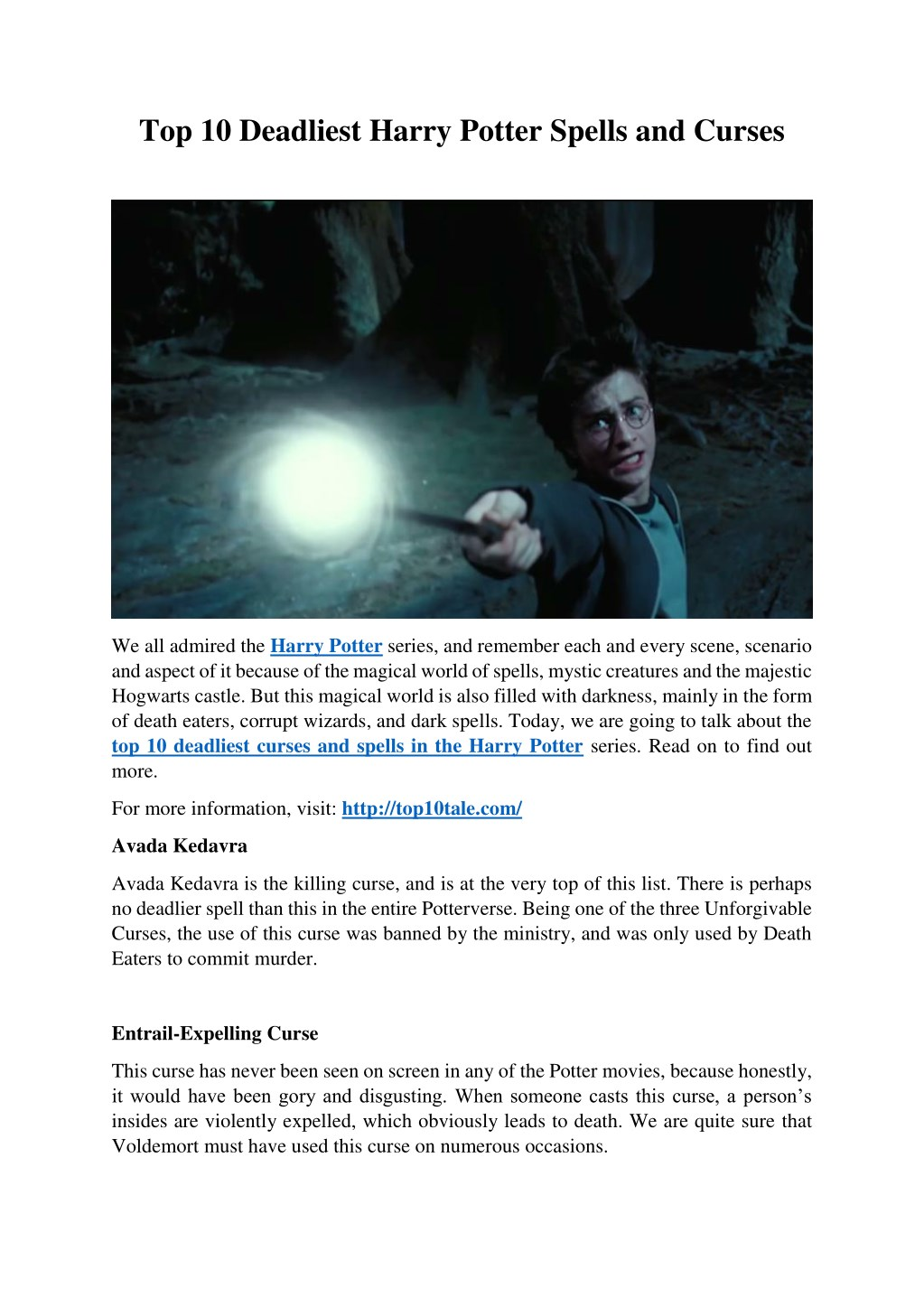 PPT - Top 10 Deadliest Harry Potter Spells and Curses PowerPoint