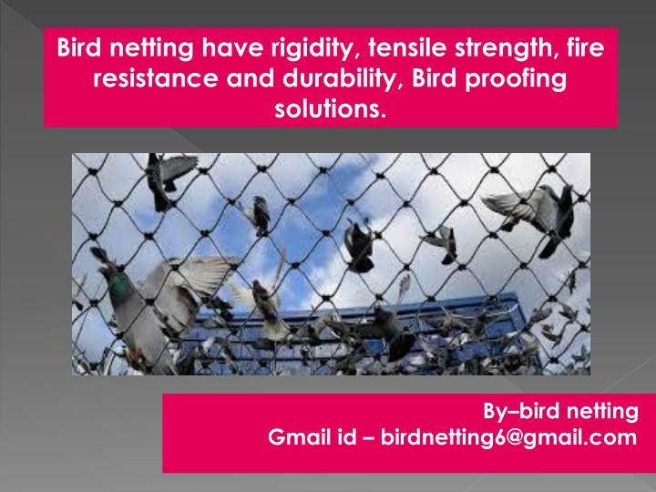 bird netting have rigidity tensile strength fire n.
