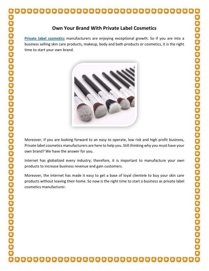 PPT - Own Your Brand With Private Label Cosmetics PowerPoint