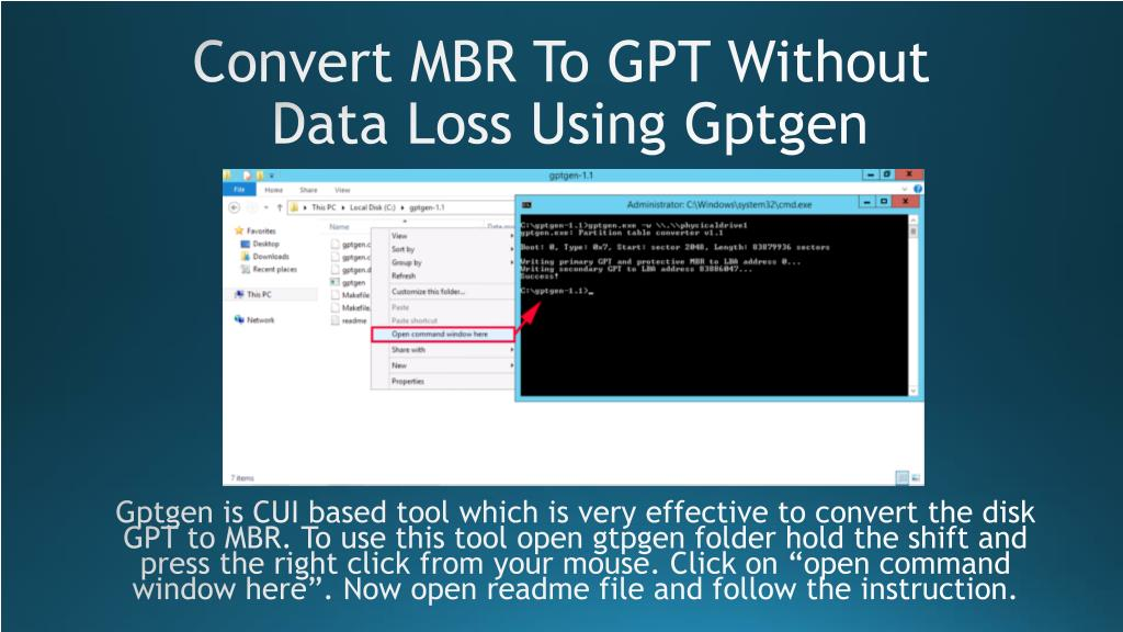 PPT - The Simple Method Convert MBR to GPT Disk In Acer