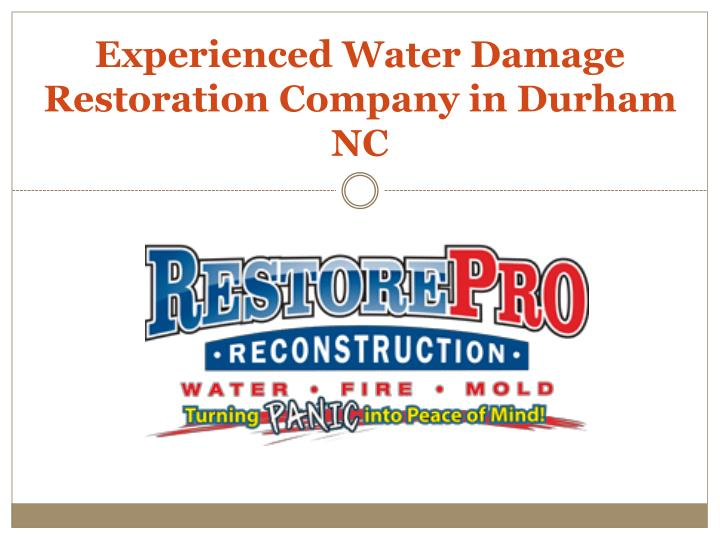 experienced water damage restoration company in durham nc n.