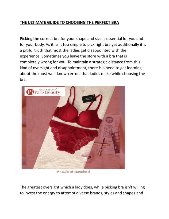 7b24cc6b80d71 THE ULTIMATE GUIDE TO CHOOSING THE PERFECTBRA. Picking the correct bra ...