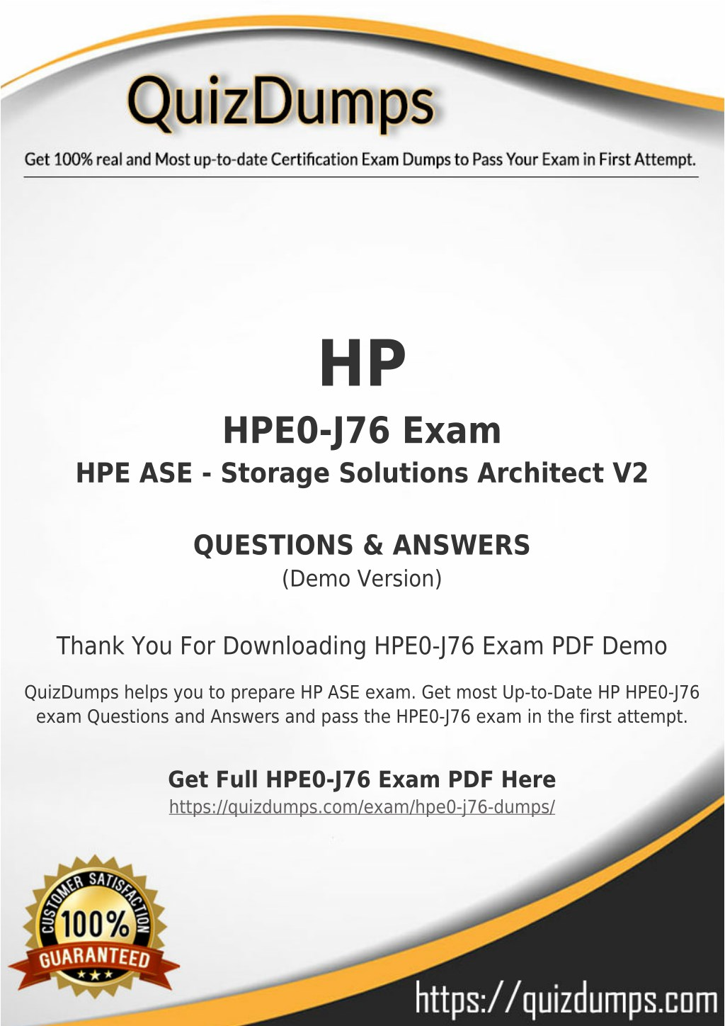Ppt Hpe0 J76 Exam Dumps Preparation With Hpe0 J76 Dumps Pdf
