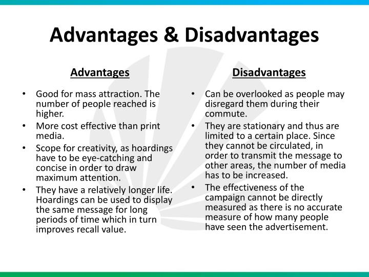 print media advertising advantages and disadvantages