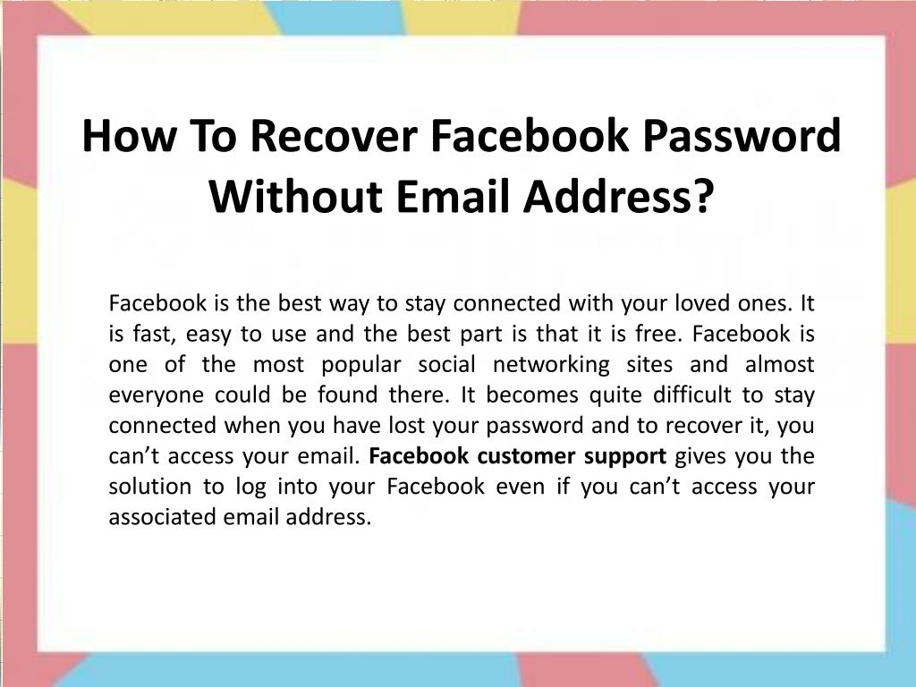 How To Reset Facebook Account Without Phone Number How to