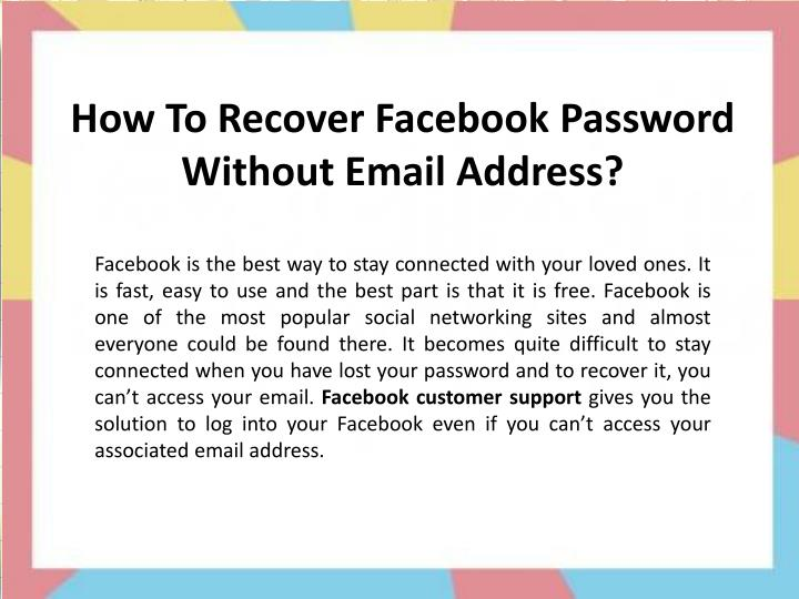PPT - How To Reset Facebook Password Without Number & Email