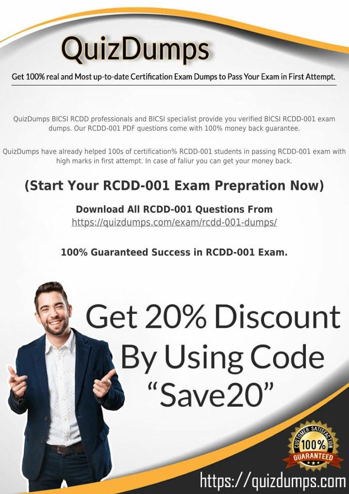 Ppt Rcdd 001 Exam Dumps Download Rcdd 001 Dumps Pdf 2018