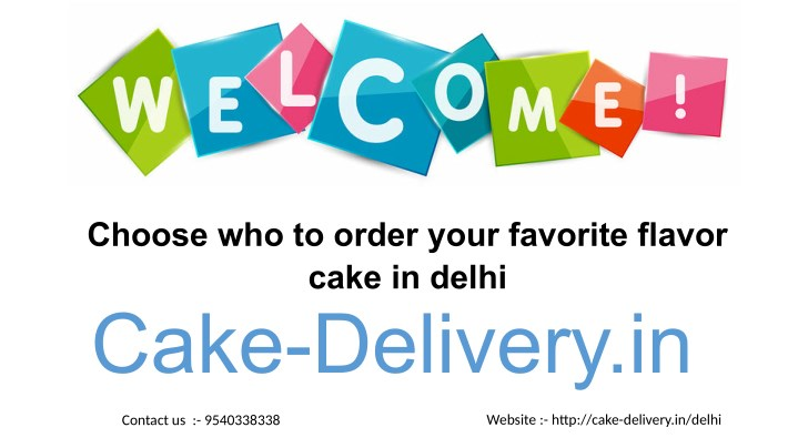 choose who to order your favorite flavor cake n.