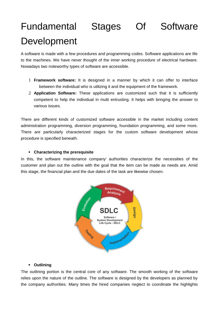 PPT - Fundamental Stages Of Software Development PowerPoint