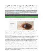 top 5 bed insect control procedures that actually