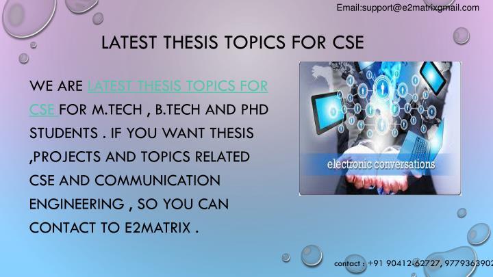 latest presentation topics