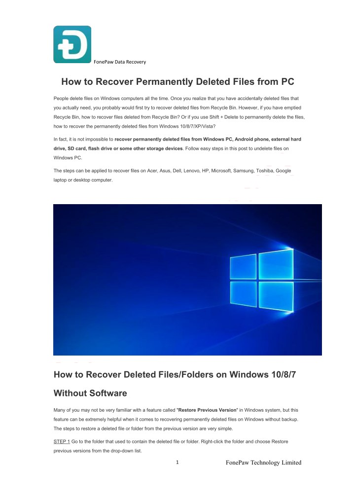 PPT - How to Recover Permanently Deleted Files from PC PowerPoint