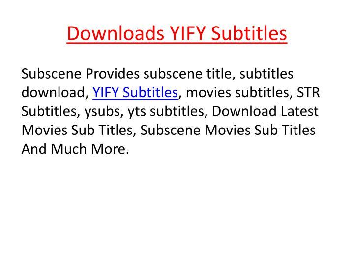 yts subtitles download