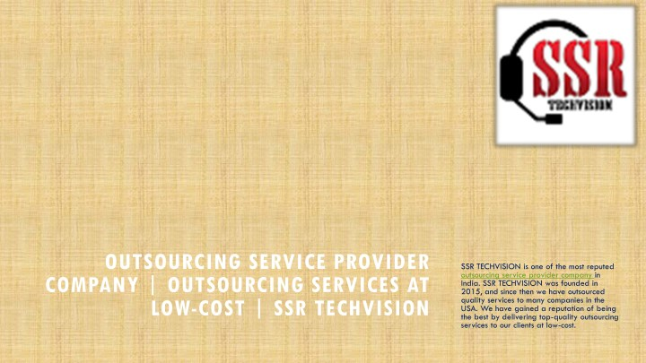 outsourcing service provider company outsourcing n.