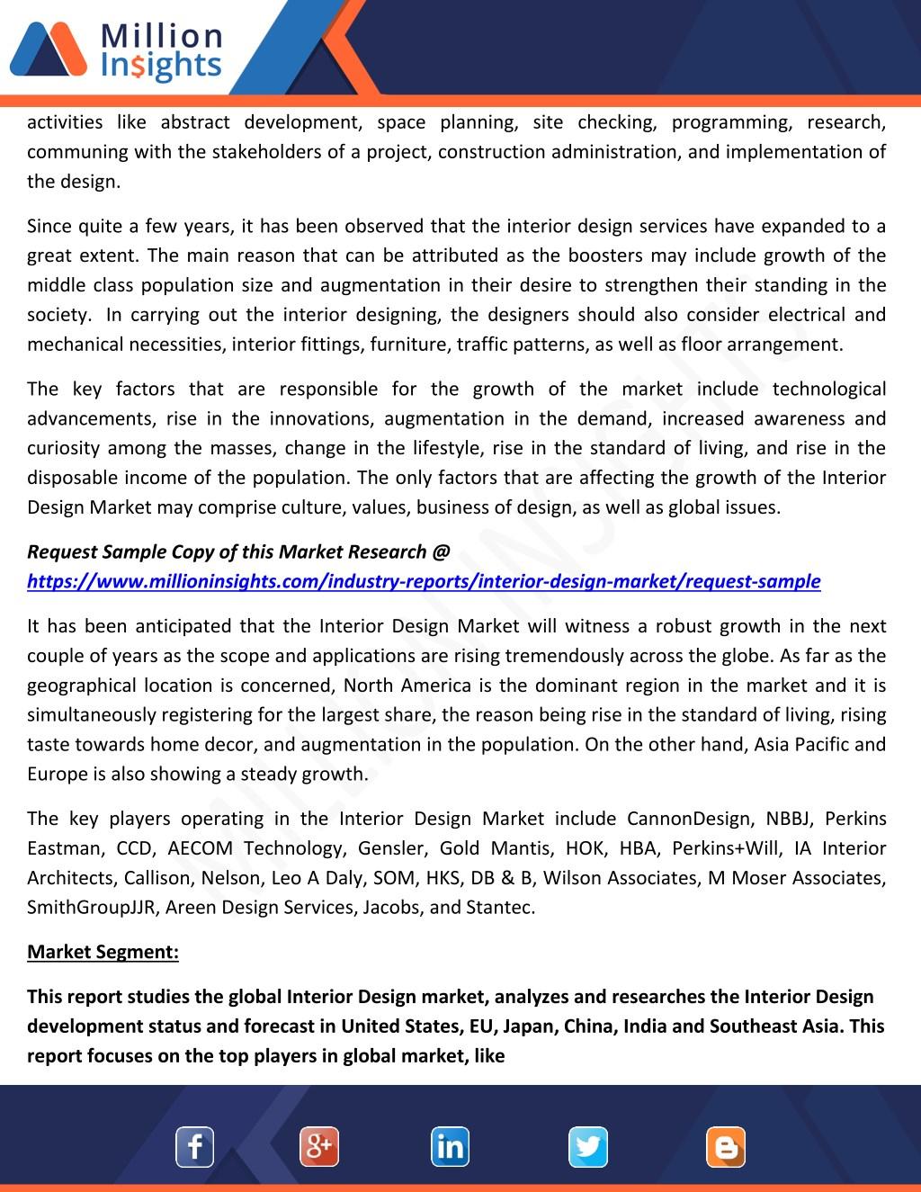 PPT - Interior Design Market Trends, Dynamics and Market