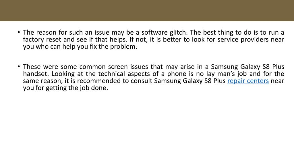 PPT - Samsung Galaxy S8 Plus Repair – 5 Common Screen