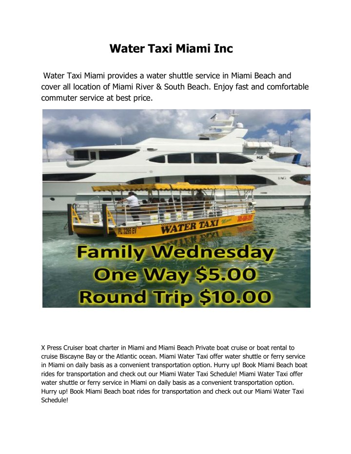 water taxi miami inc water taxi miami provides n.