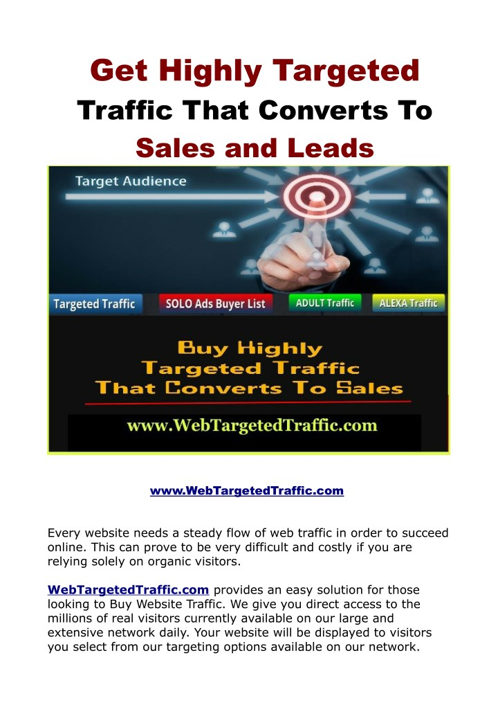 Unknown Facts About Buy Web Traffic Here